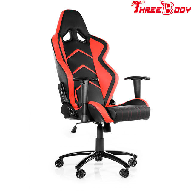 Swivel red black gaming chair mobile , Commercial  race car computer chair