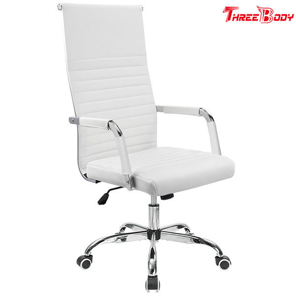 High Back Executive Conference Chairs , PU Leather Conference Room Chairs Adjustable Swivel
