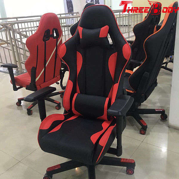 Adult Computer Leather Gaming Chair With Wheels Height Lifting Function